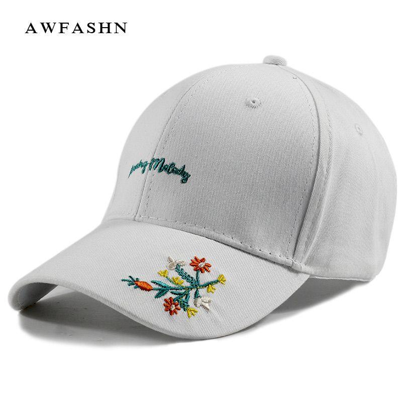 a8661028 Letter Embroidery Baseball Caps Flowers Hip Hop Hat Man Woman High Quality  Black Gorras Unisex Sport Golf Bone Snapback Cotton Hat Stores Custom  Trucker ...