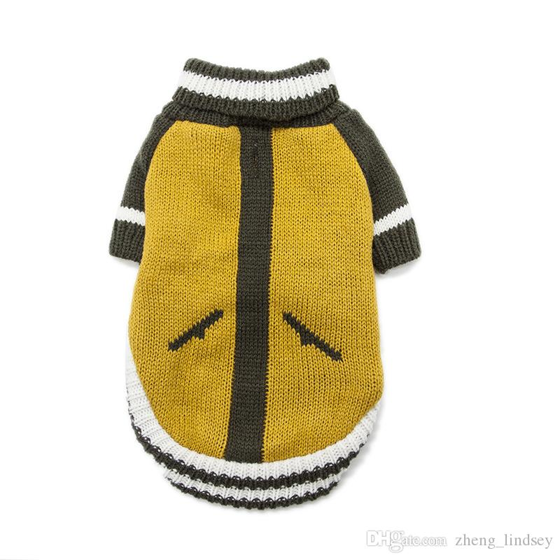 Winter Warm Pet Clothes Spring And Autumn Spell Color Knit Sweater For Small DogsTeddy Dachshund Fashion Clothes XS-XL