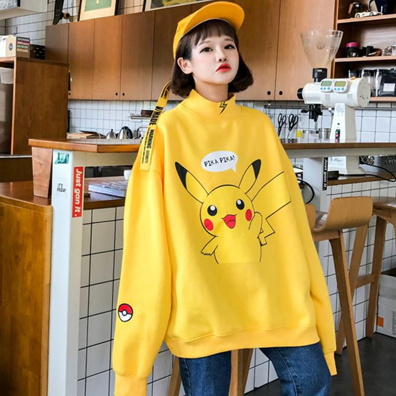 2017 Pullover Donne Acquista Nuove Pikachu Stampa Giapponese fBCqwC