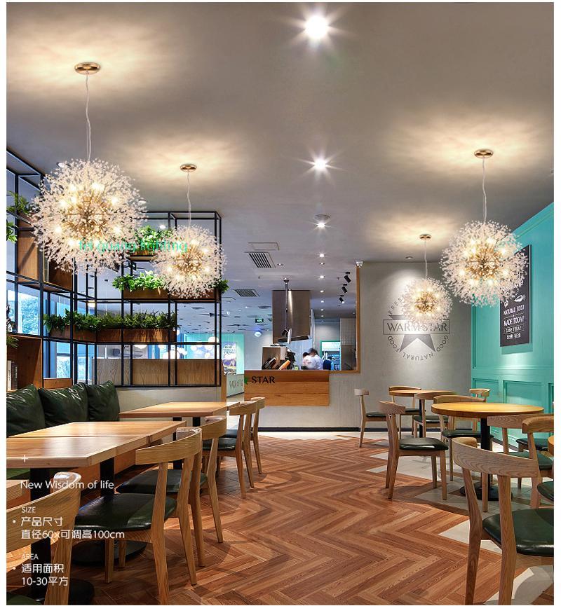 Restaurante retro led Lámpara colgante Barra de café Etapa clásicas lámparas nórdicas Luces colgantes modernos Fuegos artificiales led Luz colgante