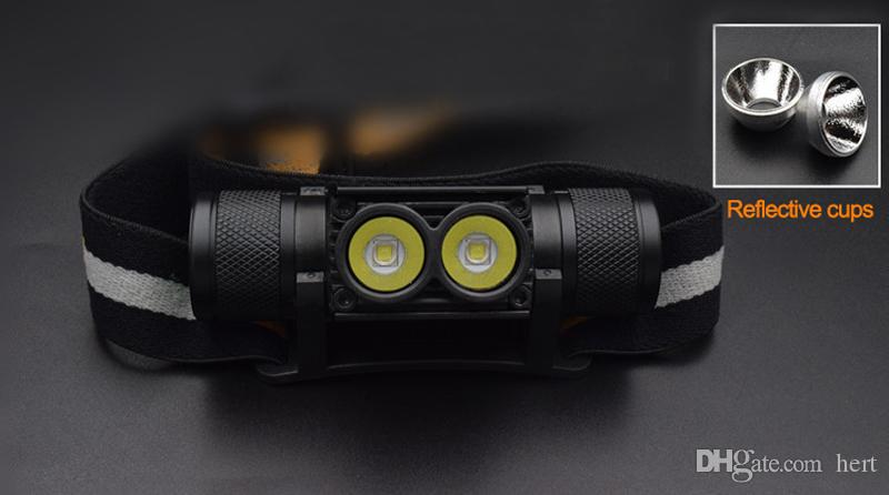T6 Headlamp Bicycle Light Flashlight Led Bike Light with 18650 Rechargeable Battery USB Cable Waterproof USB LED XML L2 T6 head light