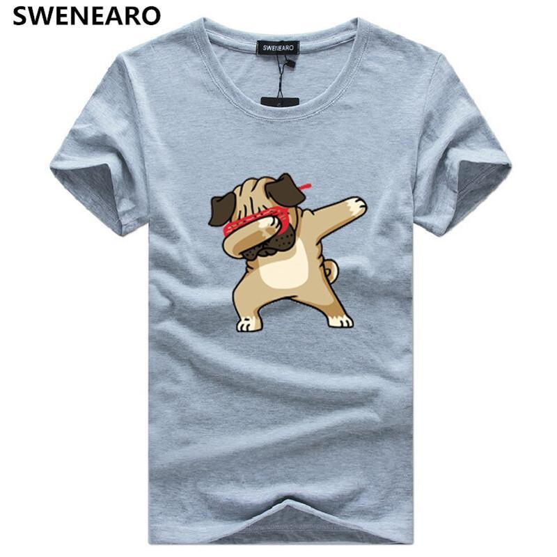 d1714c97a62 SWENEARO Men s T-Shirt Dogs Animal cartoon printing men t Shirt men Summer  High Quality Hipster Tee Shirt plus size 5XL