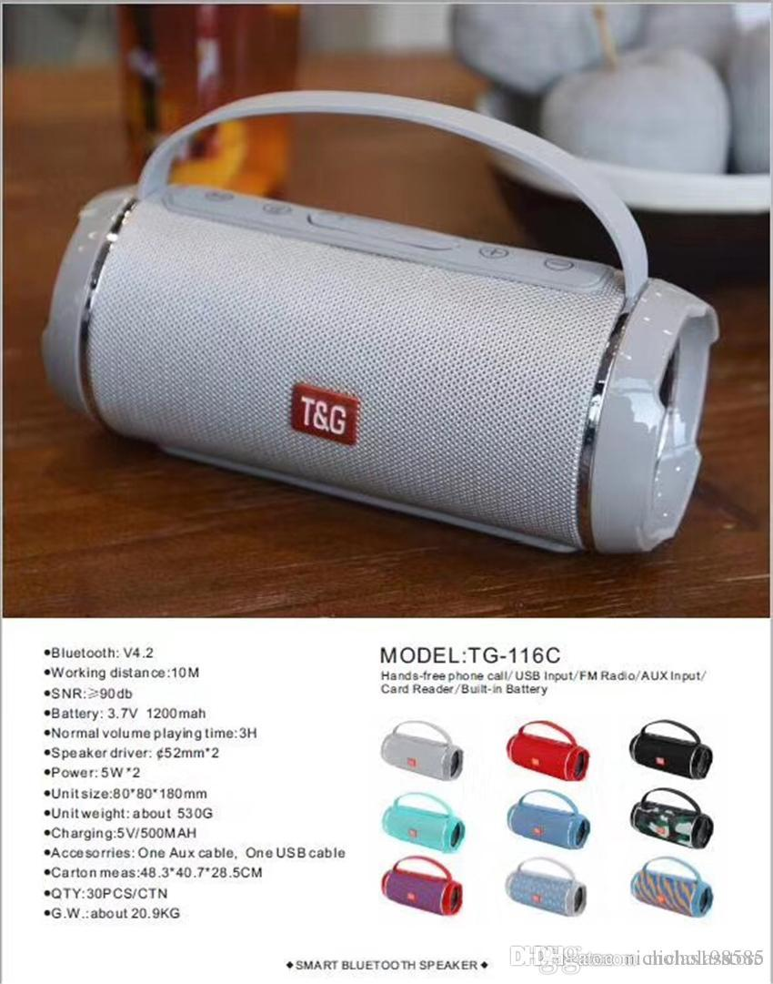 TG113 TG116 TG117 TG126 Factory Wholesale Price Cheap Wireless Bluetooth  Speaker Mini Protable Stereo Subwoofer Loudspeaker Mp3 Music Player