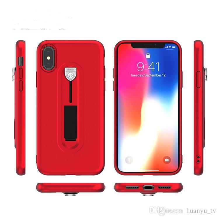 Hidden Kickstand TPU Phone Case For Samsung Galaxy S9 S9Plus S8 S8Plus Note8 S7edge Iphone X 7 Hidden Bracket Phone Back Cover Case