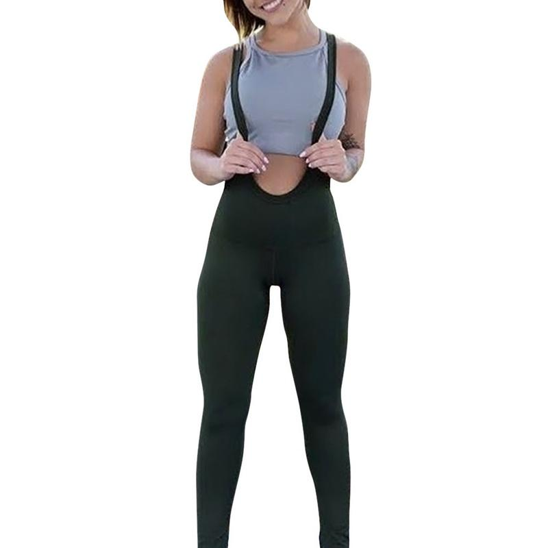 7695246deddae2 2019 Women 2018 Summer Solid Spaghetti Strap Leggings Gym Fitness Tights  Bandage Yoga Pants Sports Running Leggings Sexy Sport Pant From Cloudyday,  ...