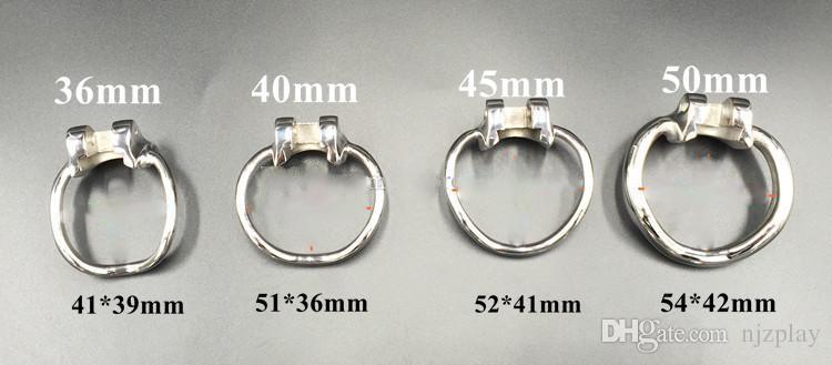 Nuevos dispositivos de castidad de acero inoxidable de jaula de castidad para BDSM Hecho a mano Versión de metal HT Jaula de martillo no soldada para hombres
