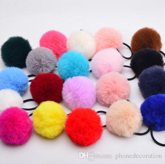 Lady Girl 6 Cm Faux Fur Fluffy Ball Pom Pom Scrunchies Pompon Elastic Ponytail  Holder Hair Rope Hair Ties Accessories Headwear Flower Hair Accessories  Hair ... 7c14d7c99c8