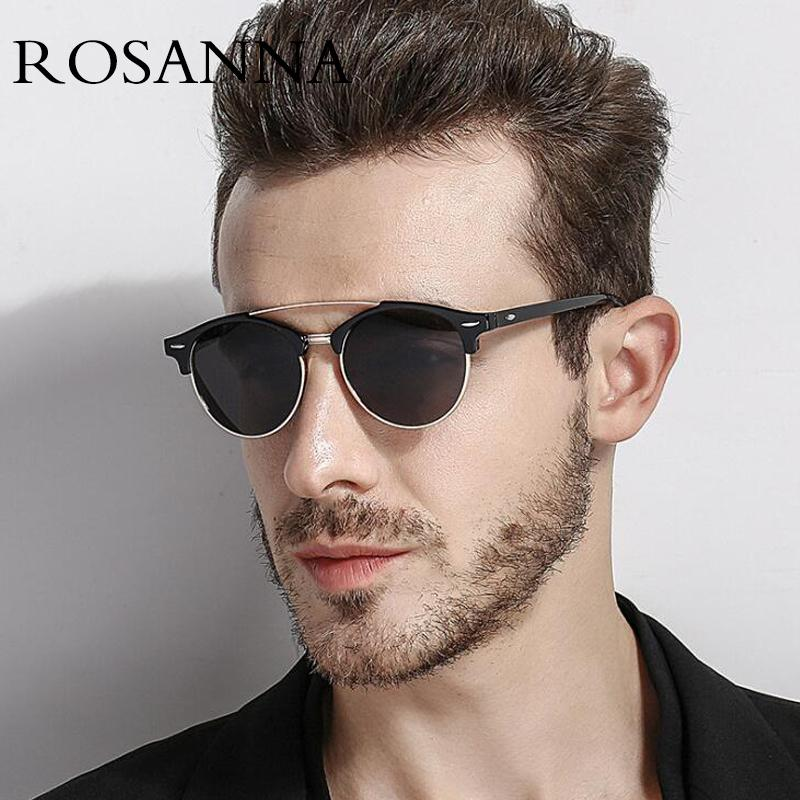 43cb1d4d8f0f3 Fashion Mens Club Round Rivet Sunglasses Polarized Womens Brand Designer  Polaroid Double Bridge Metal Sunglasses Oculos De Sol Mirrored Sunglasses  Heart ...