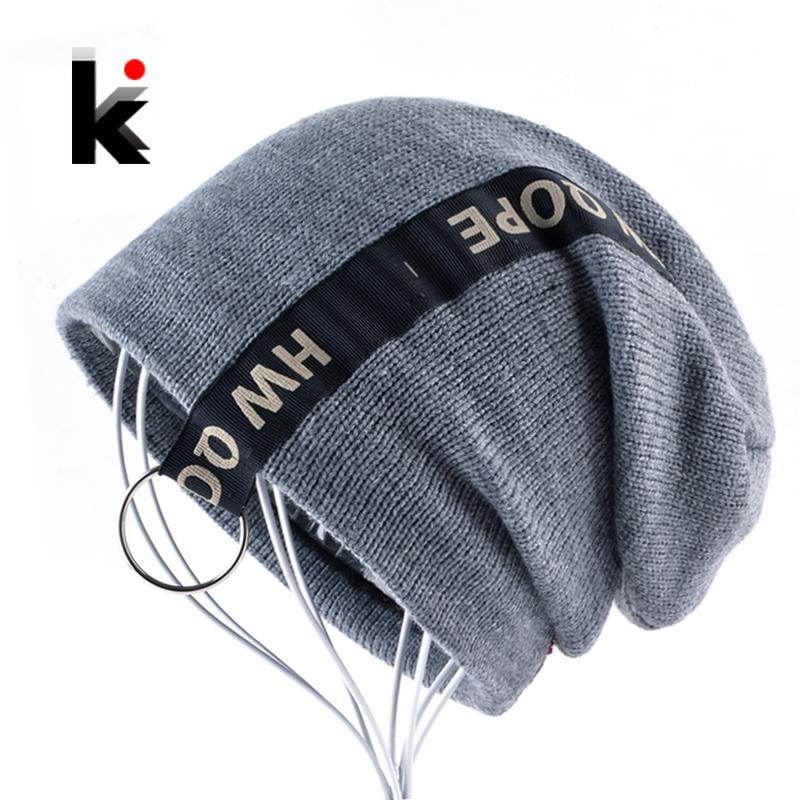 98faf20eb6802 Winter Bonnet Beanies For Men And Women Knitted Wool Hats Unisex ...