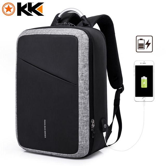 a9b336ca4a5 KAKA 2018 New USB Antitheft Backpack Male 15.6inch Laptop Backpack  Schoolbag Fashion Mochila Men Travel Bags Backpacks For Teens USB Charge  Computer ...