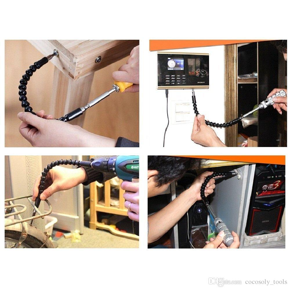 """1/4"""" Hex Screwdriver Power Drill Bit 105 Degrees Corner Device + Screwed Joint + Extension Bar Electric Screwdriver Fittings"""