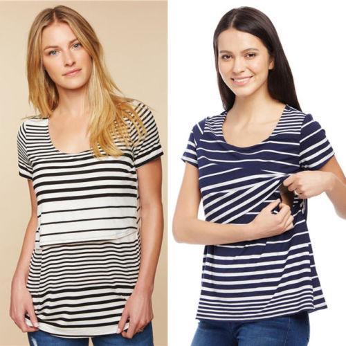 de2e1670bc 2019 Women Maternity Clothes Blouse T Shirt Breastfeeding Tops Pregnancy  Nursing Tops From Dejavui, $34.2 | DHgate.Com