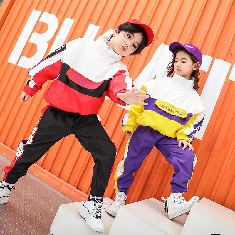 Compre 2018 Otoño Niños Niñas Traje Ropa De Baile De Calle Traje De Ropa De Moda  Infantil De Impresión Para Niños Kid Hip Hop Ropa Deportiva A  46.74 Del ... bb9be9cabf0