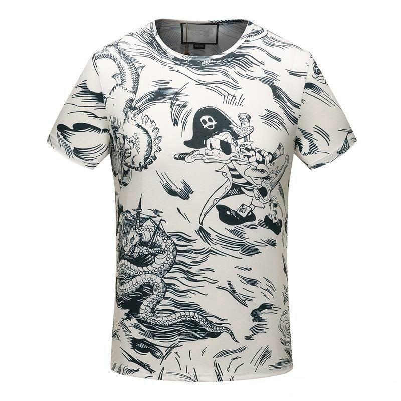 ec632f574 Compre 2018 Designer Mens T Camisa Confortável Ajuste T Shirt De Algodão  Moda Impresso Manga Curta Tee Homens De Luxo Roupas De Marca De Branco  SG16537 De ...