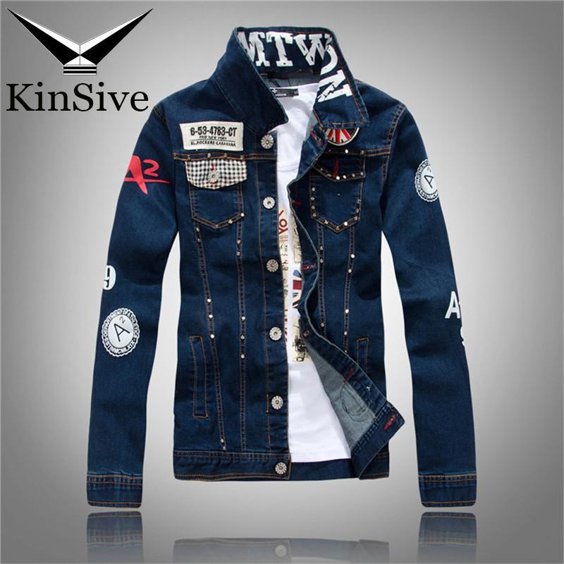 Men Denim Jacket Korean Style Washed M 3xl Bomber Jacket High