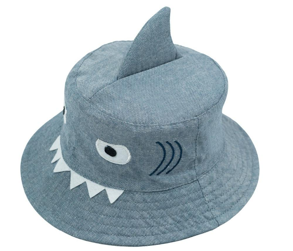 fdd5e7deb68 2019 3D Shark Design Baby Sun Hat Infant Boys Girls Beach Hat Cotton  Toddler Kids Summer Sun Protection Bucket 0 6Y From Breadfruiter