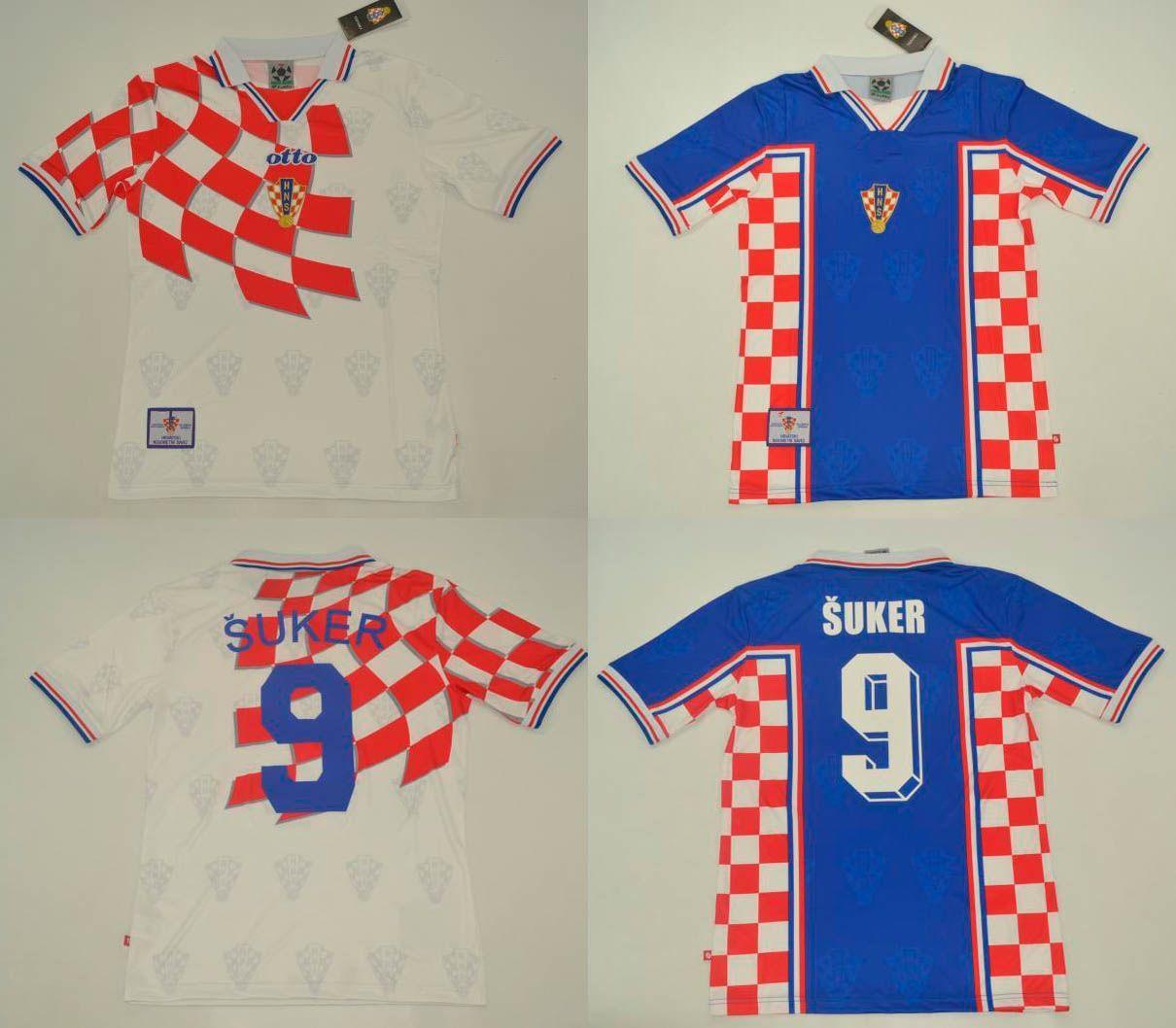 1df0c85ab 2019 1998 Croatiaes Soccer Jersey 98 BOBAN SUKER Retro Football Shirts Top  Thai Quality Football Tops Hrvatska World Cup 1994 Home Away Shirt From ...