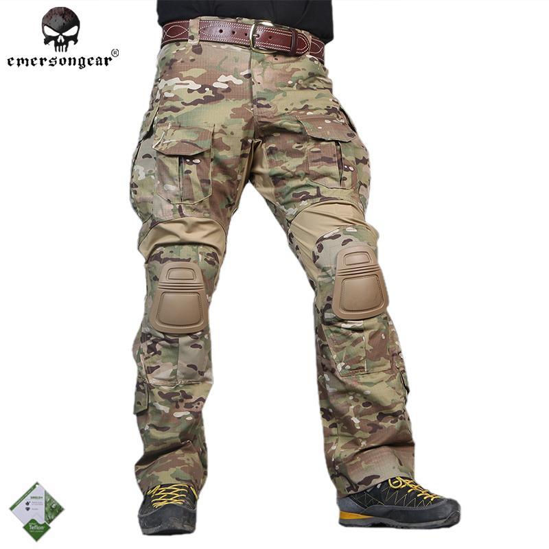 99740a500e 2019 Emersongear Men G3 Tactical Multicam Camo Pants Hunting Combat Trousers  Army Cargo Pants Ripstop EM8527/9351 W/Knee Pads From Kangshifuwat, ...