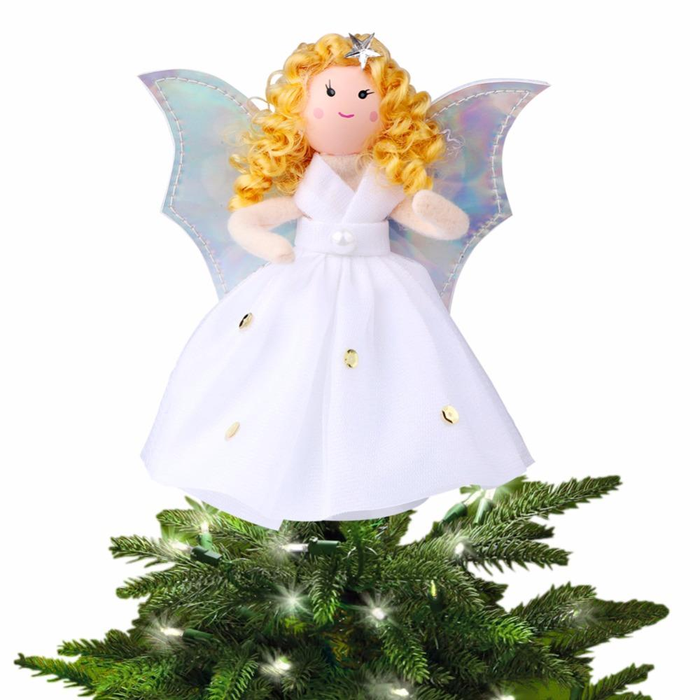 ourwarm christmas tree topper decorations christmas tree angel ornament top ornaments navidad gift santa christmas decorations santa decorations from