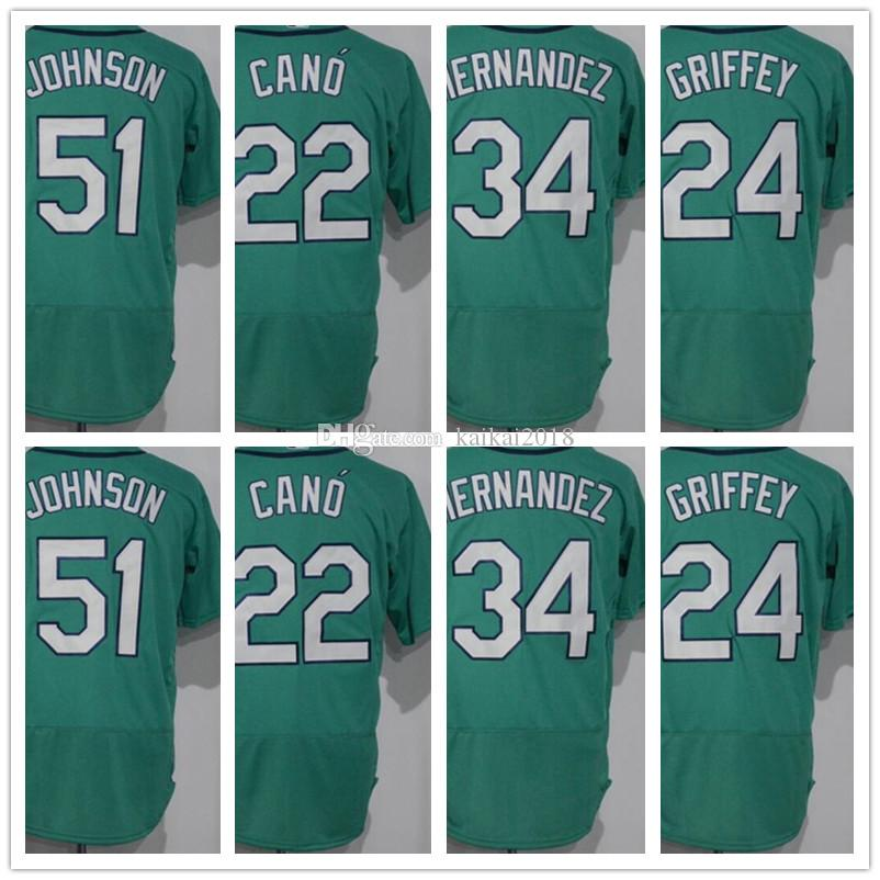 9d4d74bce27c 2019 2018 Men S Hot Sale 24 Griffey 22 Cano 51 34 Hernandez Green Cool Base  Baseball Jerseys Embroidery Logos 100% Stitched Shuishou Shirt From  Kaikai2018