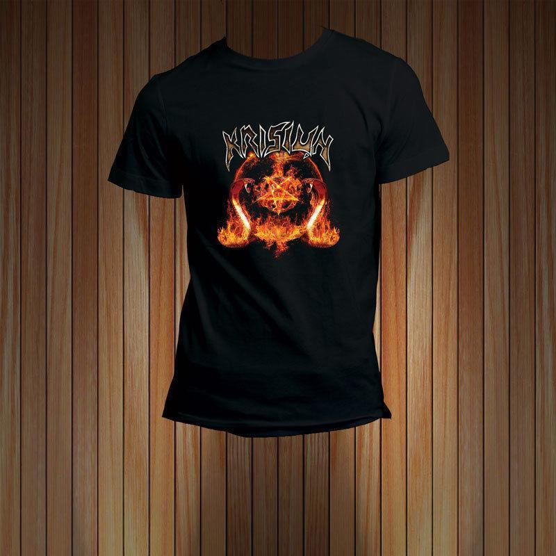 KRISIUN Brazilian Death Metal Band Logo T-Shirt Tee