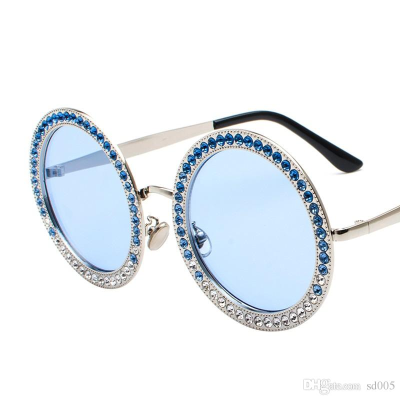 a687924ad60 2018 New Style Round Diamond Insert Sunglasses Fashion Marine Spectacles Go  Show Street Pat Glasses Women Men For Outdoor 24jt Ff Polarised Sunglasses  Baby ...