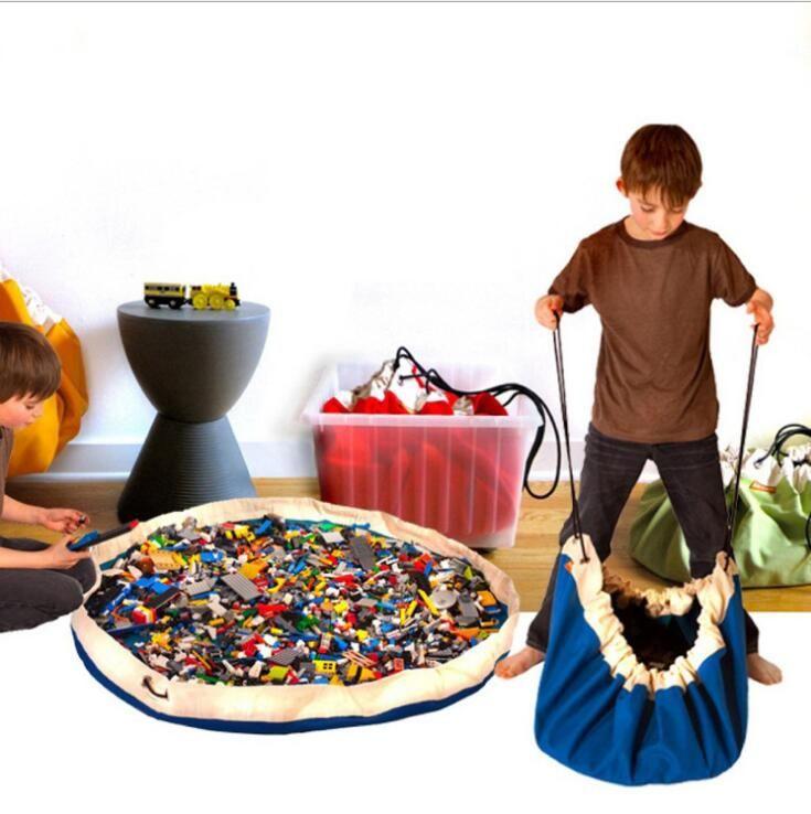 150 Cm Portable Kids Toy Storage Bag And Play Mat Kids Toys Organizer Bin  Box Fashion Practical Storage Bags AAA+ Qualtiy Z48 Kids Toy Storage Bag  Kids Play ...