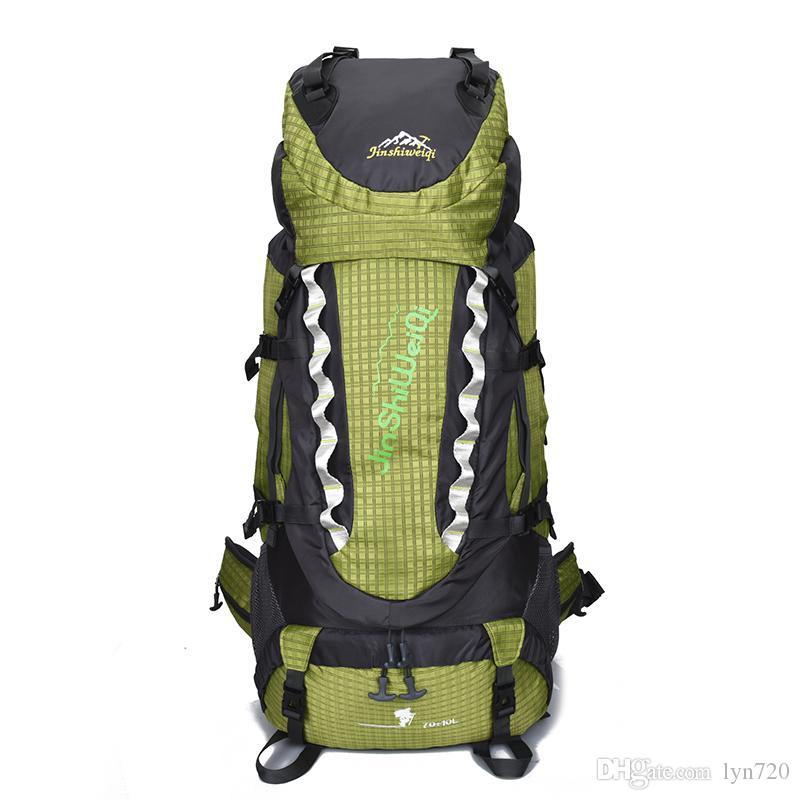 2019 Outdoor Double Shoulder Sports Bag Waterproof Nylon Hiking Bag Hiking  Backpack 4dd63a8dc6c83