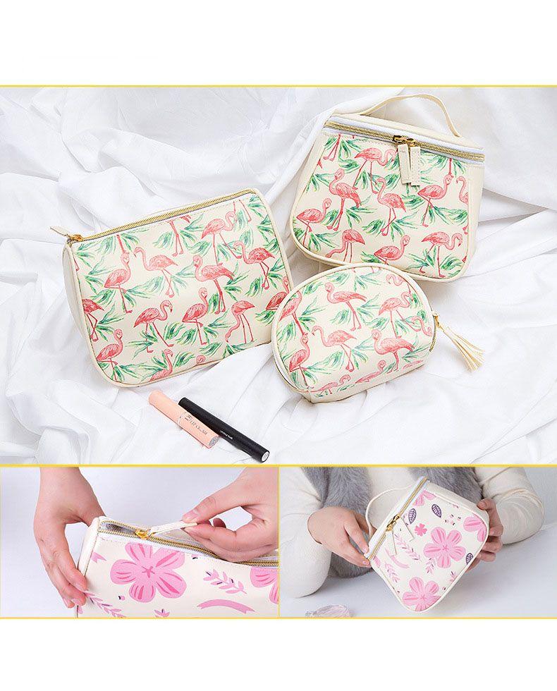 Travel cosmetic bag PU printing waterproof storages bag wash bag storage bags girl wind spots gift
