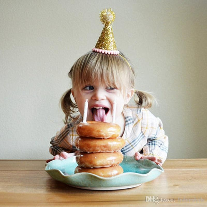 Neonata bella dei cappelli della principessa Crown Decorazione feste Toppers bambini favori fascia dei capelli Accessori la festa di compleanno