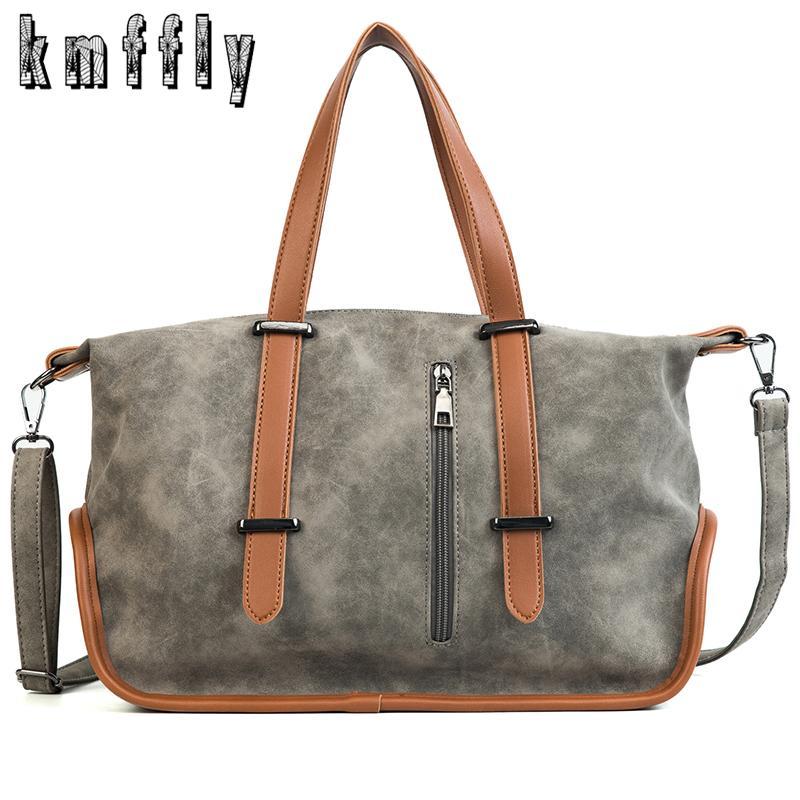 166773e0f1efd Großhandel Kmffly Marke Vintage Handtaschen Frauen Casual Tote Große  Kapazität Tragbare Umhängetaschen Weibliche Mode Reisetaschen Paket Sac Von  Roseyy