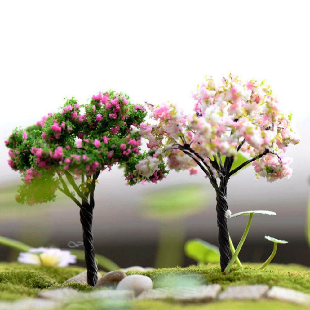 2019 Mini Tree Terrarium Figurines Garden Miniature Resin Craft Home