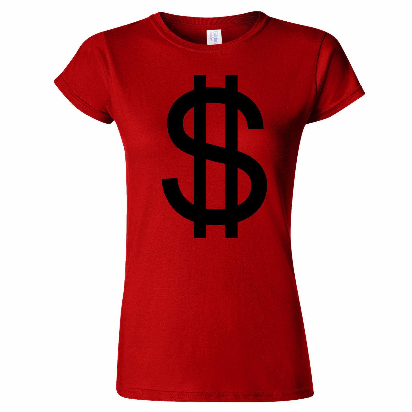 Large Dollar Sign Womens T Shirt Design Money America Us Canadian