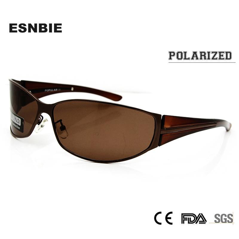 Compre ESNBIE ÓPTICO Óculos Polarizados Homens Oversized Masculino  Sunglasses Driver Vidro Envoltório Voador Polaroid Sun Glass Sun Sombra  C18110601 De ... 49404a4f1b