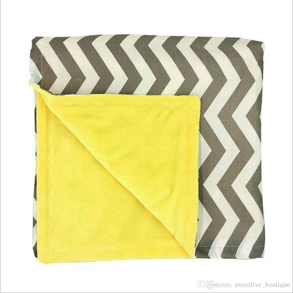 wholesale baby minky blankets infant zigzag chevron swaddle children flower leopard camouflage blankets boys girls gold dot owl blankets