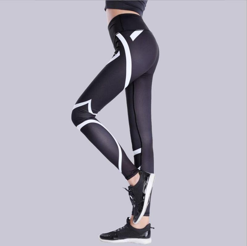 304c5f09e0 2019 Black White Fitness Leggings Women Striped Leggings Fitness Skinny  Legging Sporting Workout Pant Sweatpants Pants Wh From Derricky, $32.14 |  DHgate.Com