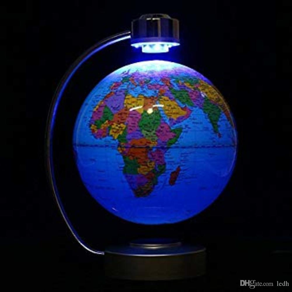 Touch Maglev Floating Earth Globe Night Light With World Map For