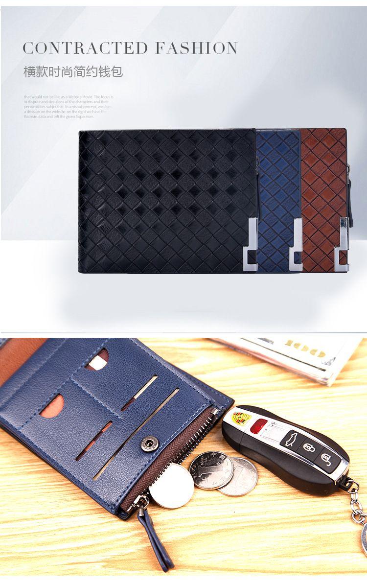 Fashion Mens' Wallets Leather Short Design Hasp Men's Wallet Brand Brief Elegant Portable Money Purses Cases Card Holder 2018051420