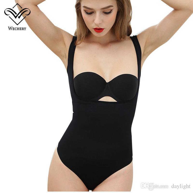 6959650a8e0 Wechery Body Shapers Bodysuits Cinta Modeladora Waist Trainer ...