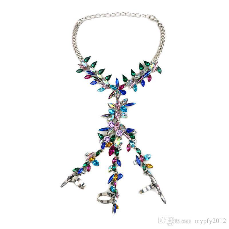 Nuova Normativa sposa strass Anello di barretta Bracciali le donne di cristallo Gioielli Regali del braccialetto di fascino i