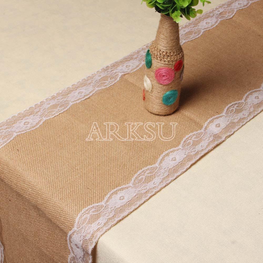 12x108 Inch Elegant White Burlap Table Runner Natural Table Runner Modern  Lace For Wedding Party Deco Vinyl Table Cloths Vinyl Table Runner From  Sophine12, ...