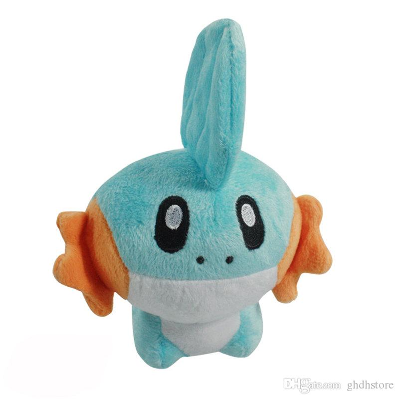 "Top New 5.5"" 14CM Mudkip Plush Doll Anime Collectible Dolls Stuffed Party Gifts Soft Toys"