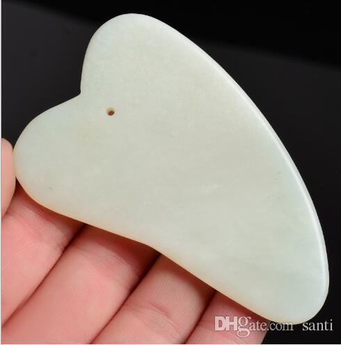 Gua Sha Tratamento Facial Guashá Massagem Ferramenta Chinesa Natural Jade Stone Scraping Ferramentas para Olho Face Slimmer