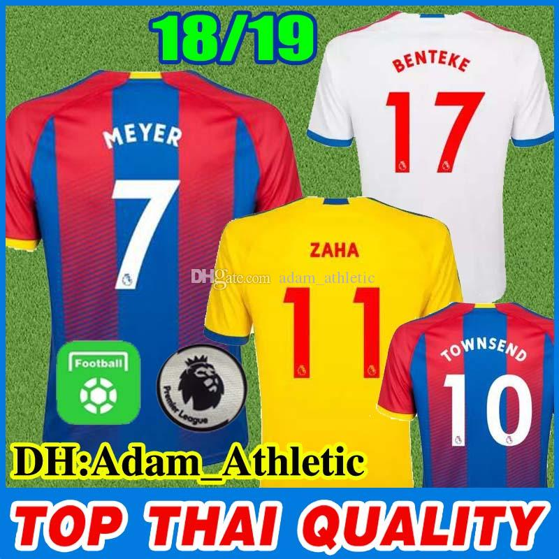 1347007fd067 2019 Crystal Palace Home Soccer Jersey 18 19 BENTEKE TOWNSEND Away Football  Shirt MILIVOJEVIC MEYER ZAHA Crystal Palace Football Jerseys Uniform From  ...