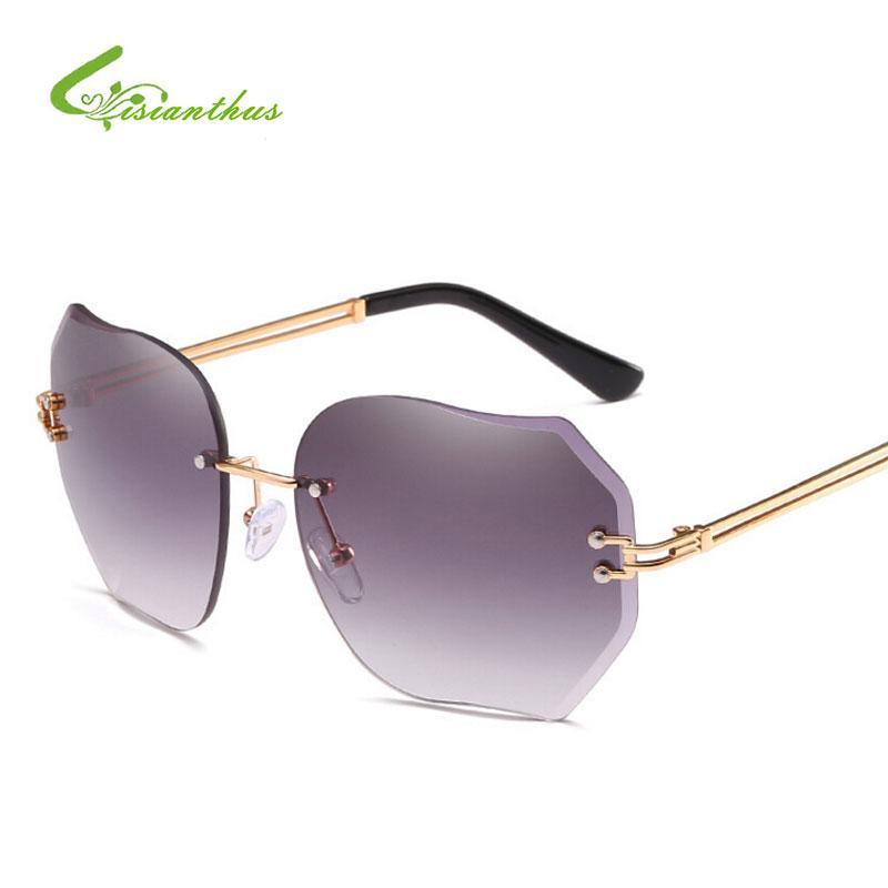Compre Nuevas Gafas De Sol Para Mujeres Gafas Sin Montura Gafas ...