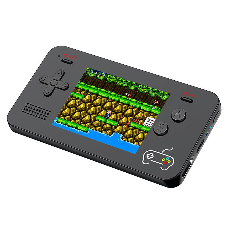 New 2 in 1 Retro Mini Game Console 5000mAh Mobile Power Bank 188 Classic  Games Portable Video Game Player 2 5 inch LCD Pocket Gaming Console
