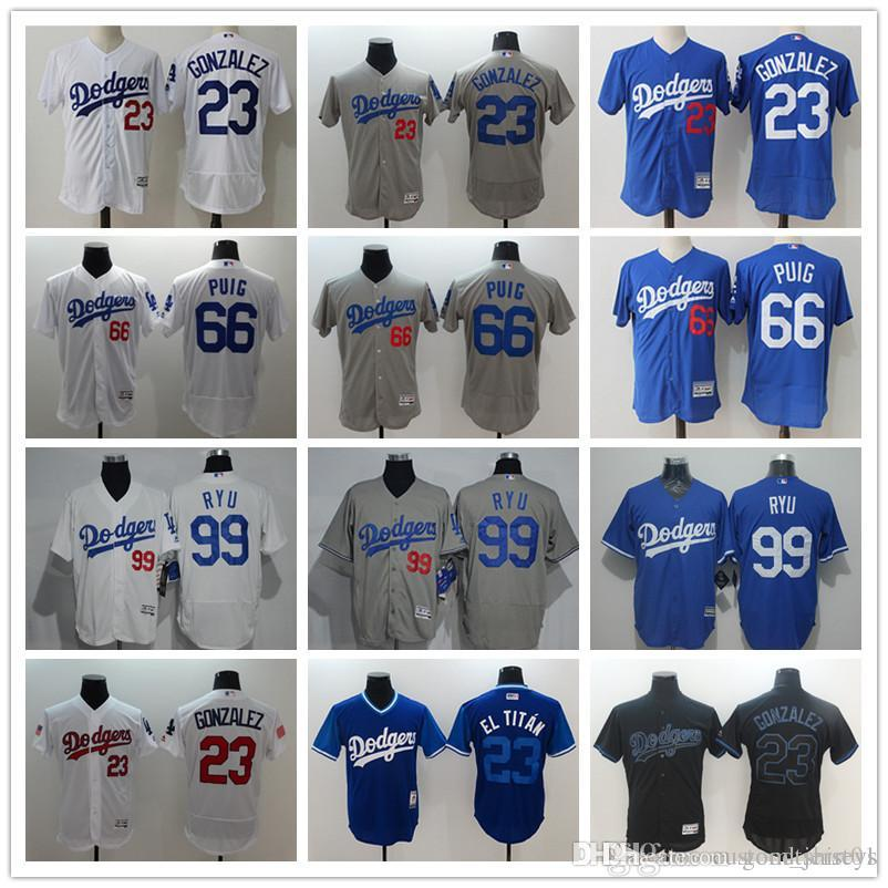 aec2438dc 2019 Men S Women Youth LA Dodgers Baseball Jersey  23 Adrian Gonzalez 66  Yasiel Puig 99 Hyun Jin Ryu Fashion Baseball Jerseys From Goodtshirt01