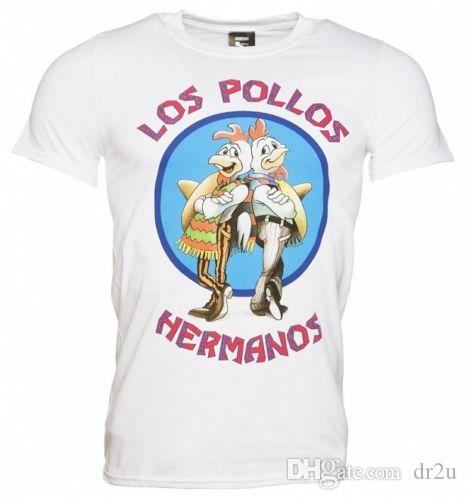59c888a6 Official Men'S White Los Pollos Hermanos Breaking Bad T Shirt Make A ...