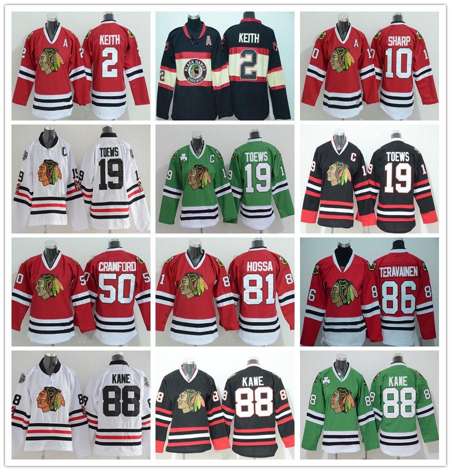 15a54220a Youth Chicago Blackhawks Hockey Jerseys 50 Corey Crawford 88 Patrick ...