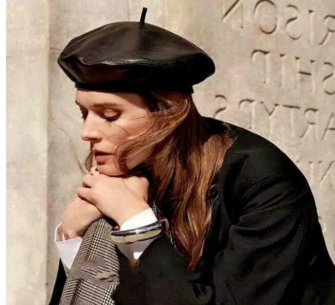 217b0682917e9 2019 Women PU Leather Octagonal Caps Newsboy Cap Vintage Bonnet Beret Style  Retro Leather Hat Cowboy French Artist Beanie Hat From Fashionkiss